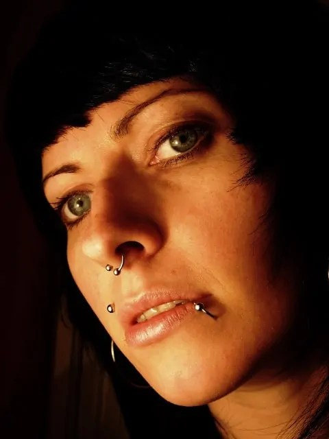 fashionable face piercings