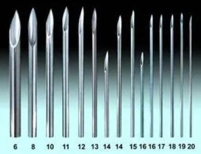hollow piercing needles