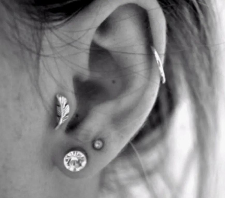 Fashionable Ear Cartilage piercing