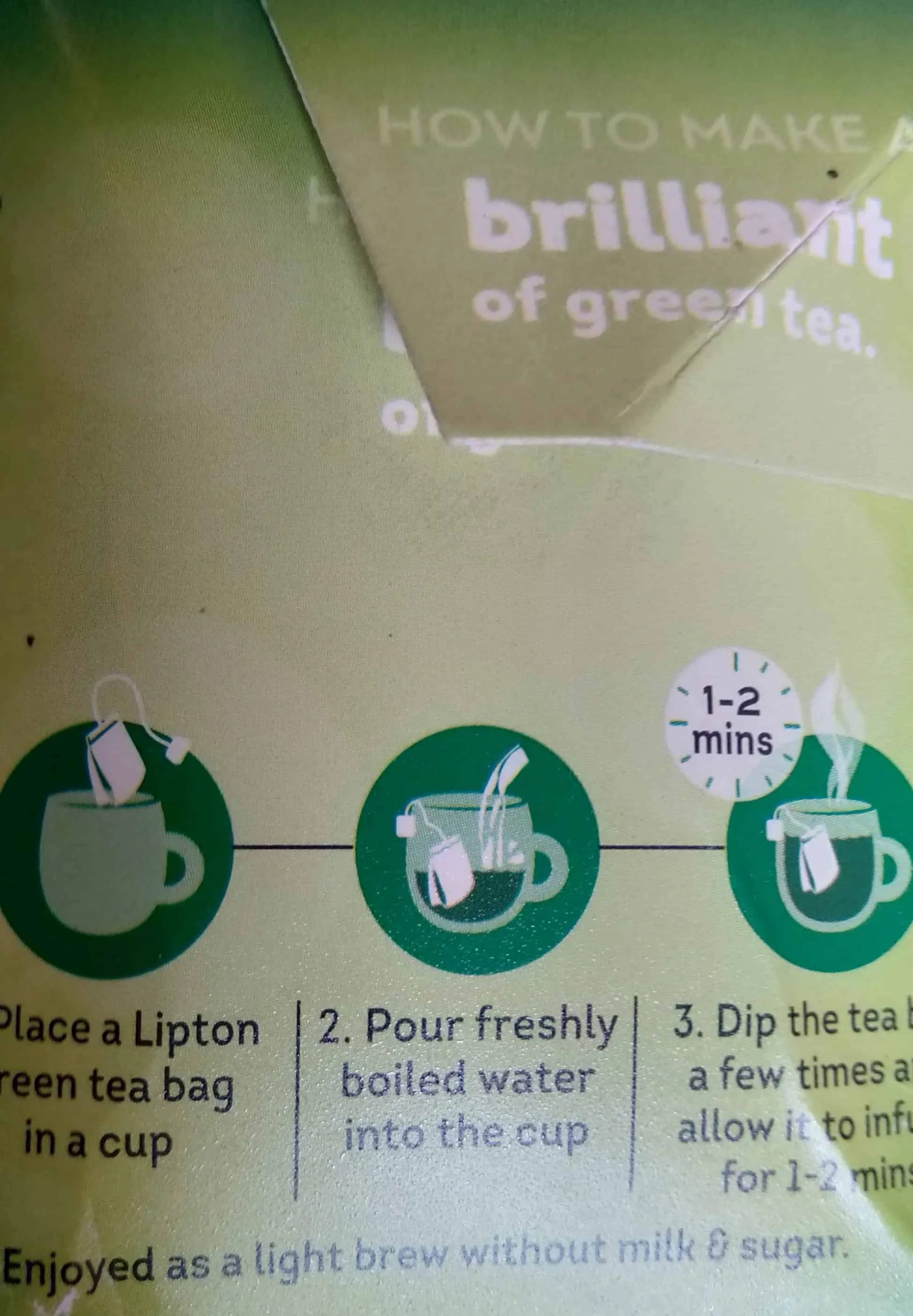 how to use lipton green tea