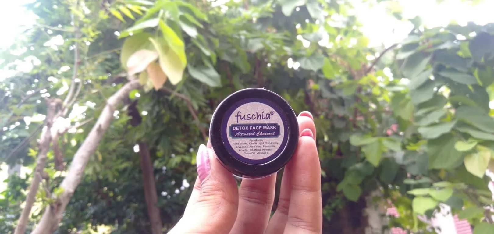 activated charcoal face mask fuschia