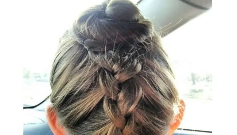 bun hairstyle for saree braided