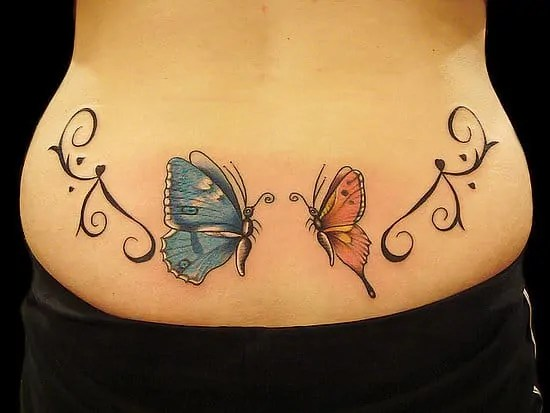 butterfly pair tattoo