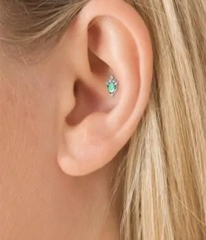 attractive females conch ear piercing