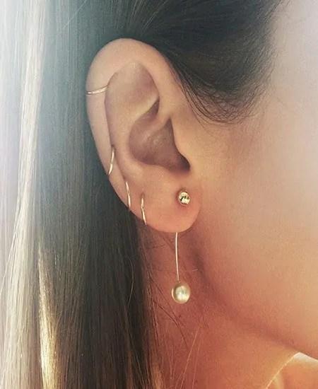 beautiful ear piercing jewelry for females