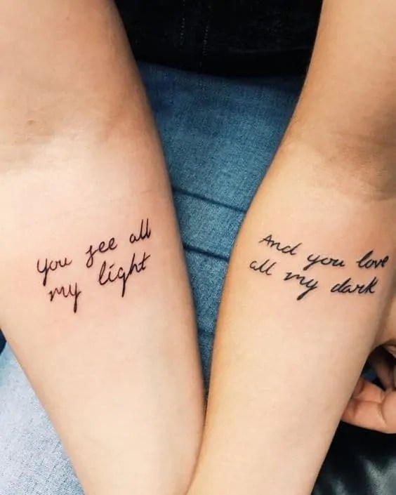 couple tattoos quote
