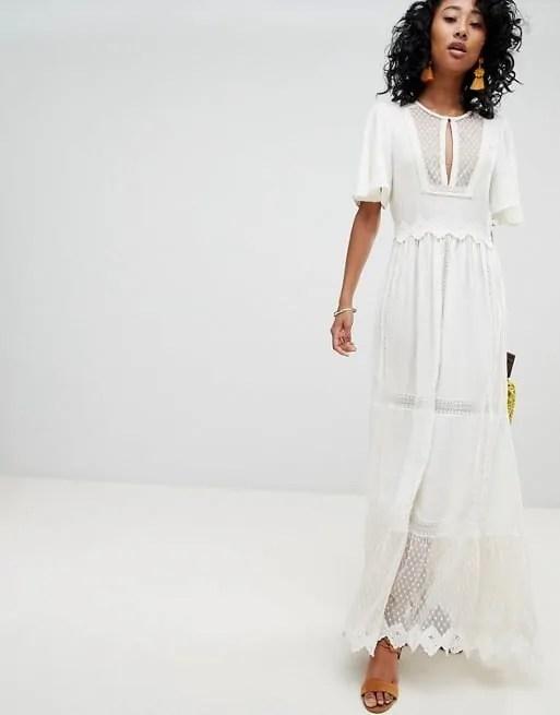 white beach wedding dress