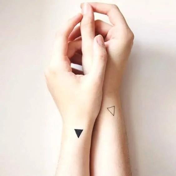 triangle shape tattoo