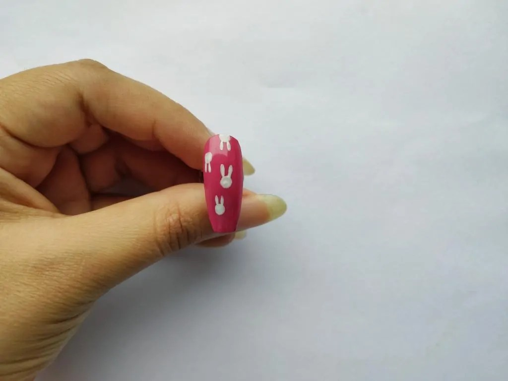 easiest easter bunny nail art