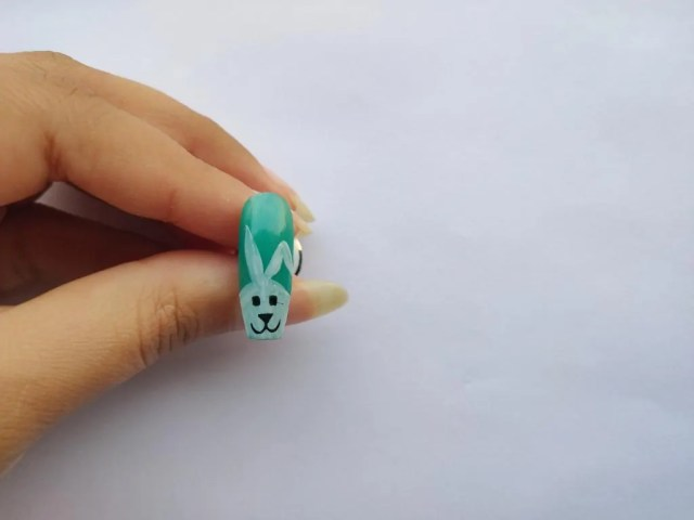 Rabbit Easter Nail Art