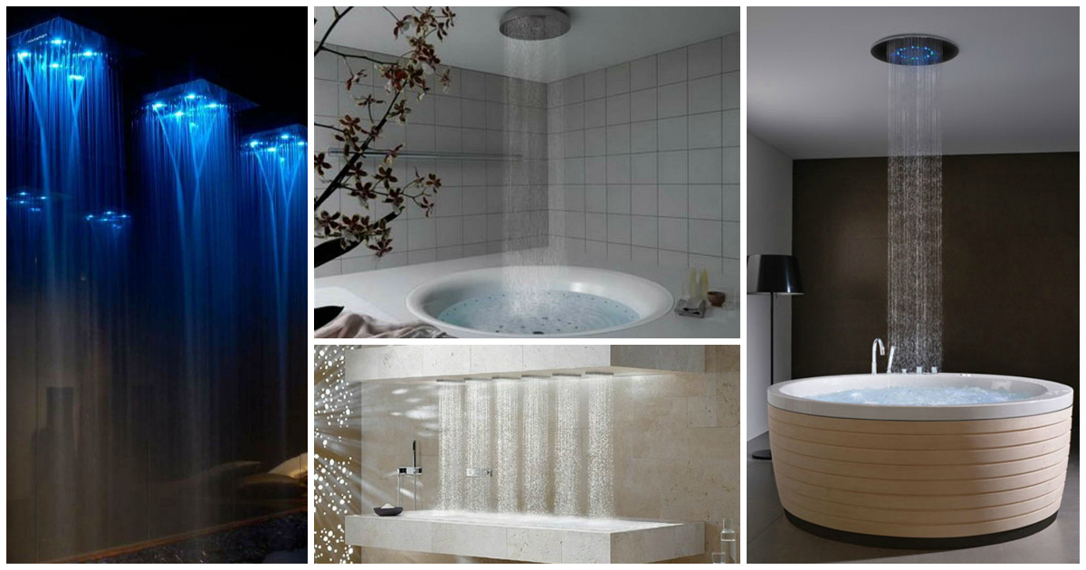16 Photos Of The Creative Design Ideas For Rain Showers