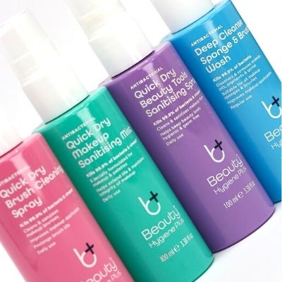 Beauty Hygiene Plus cleaning and sanitising makeup producgts