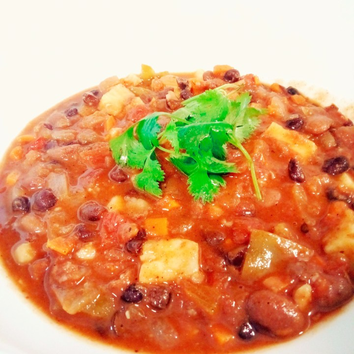 Vegetarian Black Bean and Sweet Potato Chili