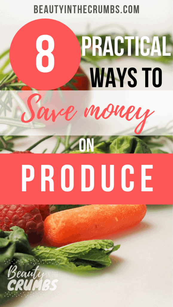 Check out these 8 tips to save money on produce every month and feed your family well!                #frugalgrocery #kitchentips #savemoney #kitchenhacks #moneysaving