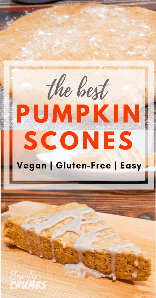 A delicious gluten free and vegan pumpkin scone that tastes like the Starbuck's version