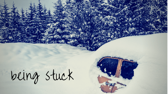 being stuck