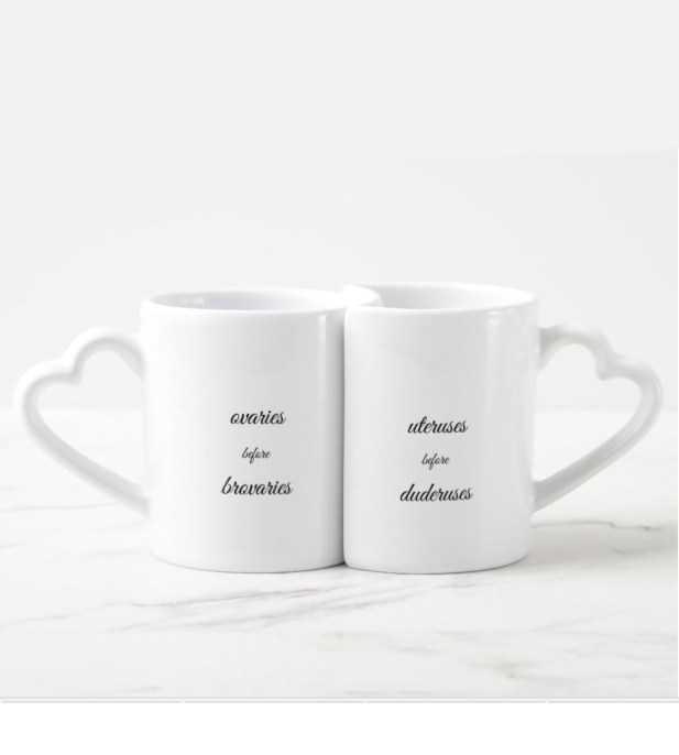 Galentines day gifts ovaries before brovaries mug set | BeautyIsCrueltyFree.com