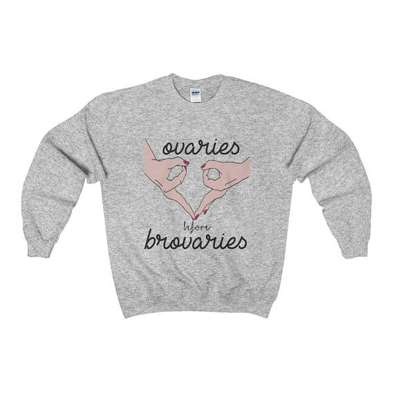 Galentines Day Gifts BFF shirt Galentines day gifts ovaries before brovaries mug set | BeautyIsCrueltyFree.com