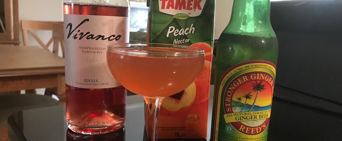 Peaches & Rosé Cocktail