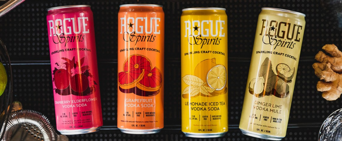 Rogue Ales & Spirits Encourages Fans to 'Liberate Your Cocktail' by Enjoying Sparkling Craft Cocktails Anytime, Anywhere