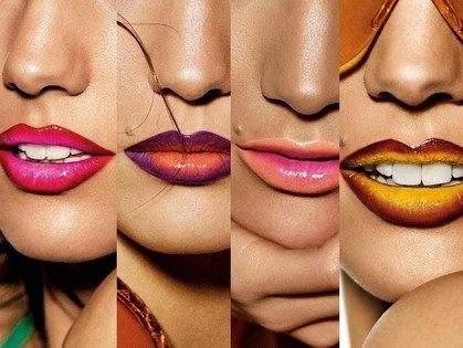 Ombre Lips makeup