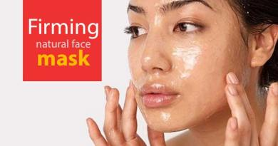 Firming natural face mask