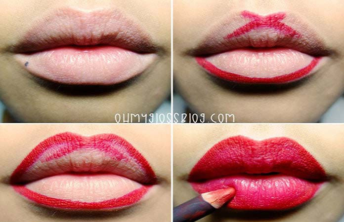 Fleshy lips in a natural way