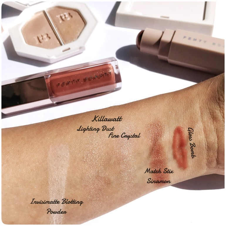 Swatches Fenty Beauty By Rihanna Makeup