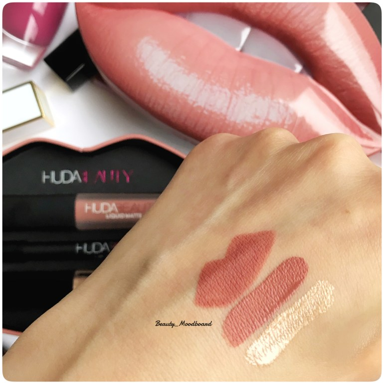 Swatches Lip Set Huda Beauty Contour & Strobe Bombshell Ritzy