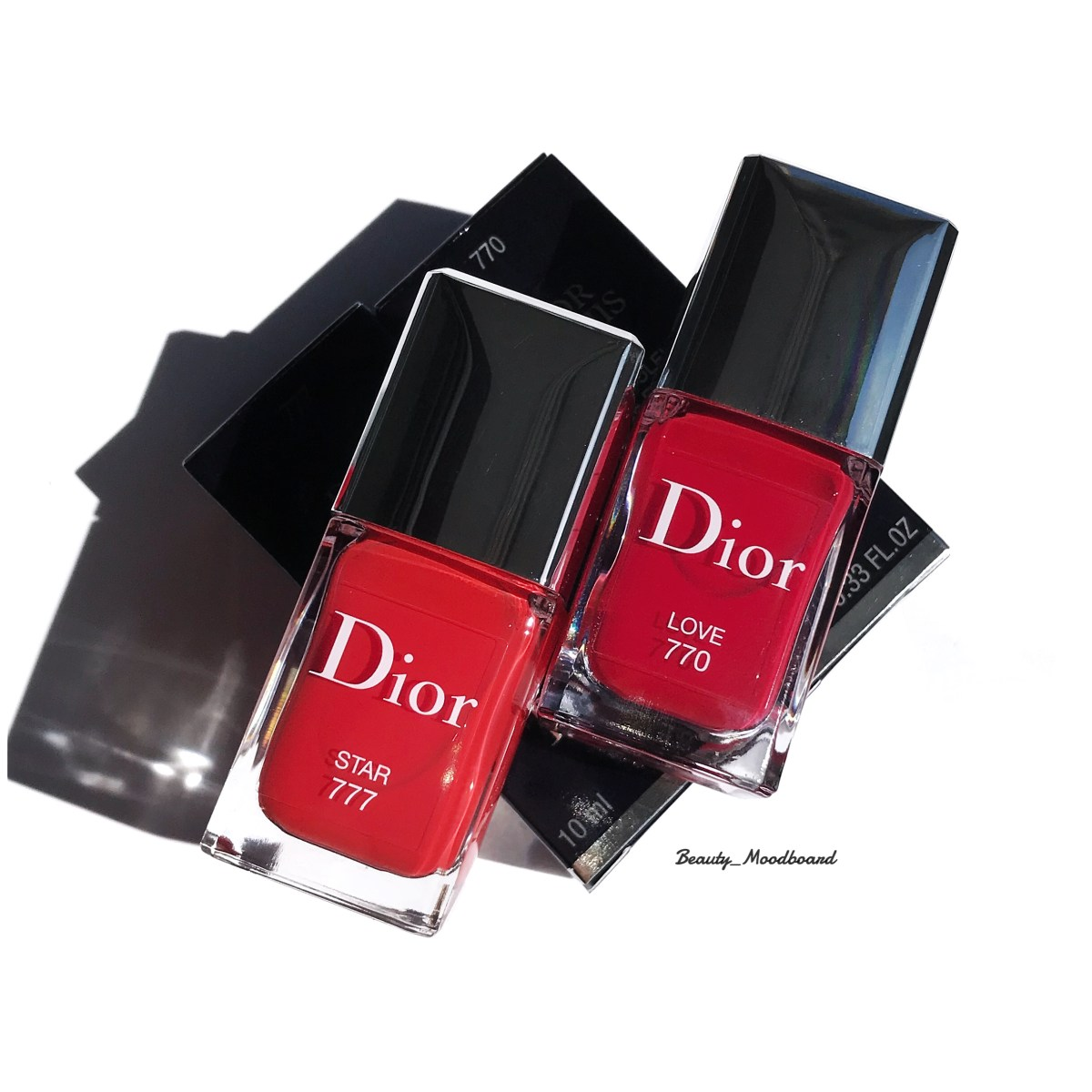 DIOROUGE Ultra Rouge Dior Vernis Love 770 et Vernis Star 777 #swatchparty ;)
