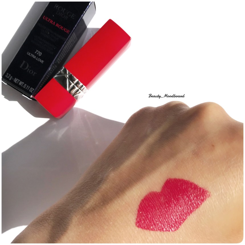 Swatch Lipstick Ultra Love 770