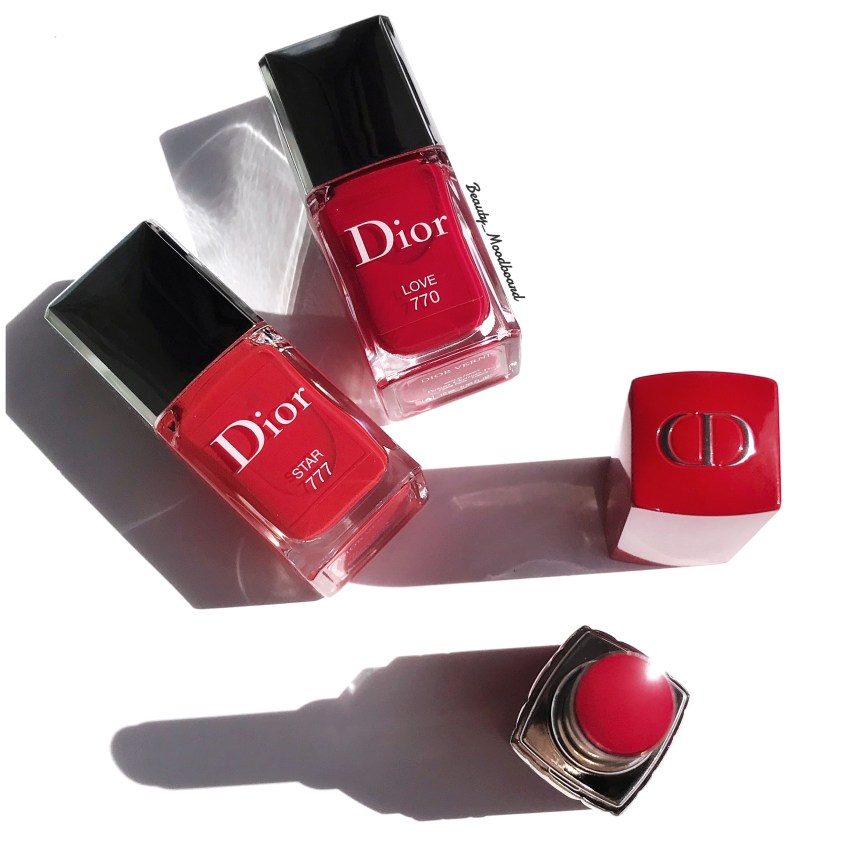 Rouge Dior Vernis Love 770 et Star 777