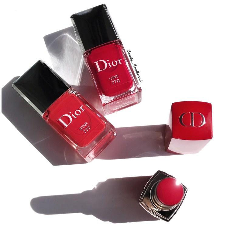 Rouge Dior Vernis Love 770 et Star 777