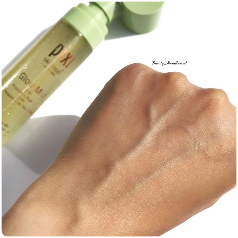 Swatch Glow Mist sur la peau effet lumineux