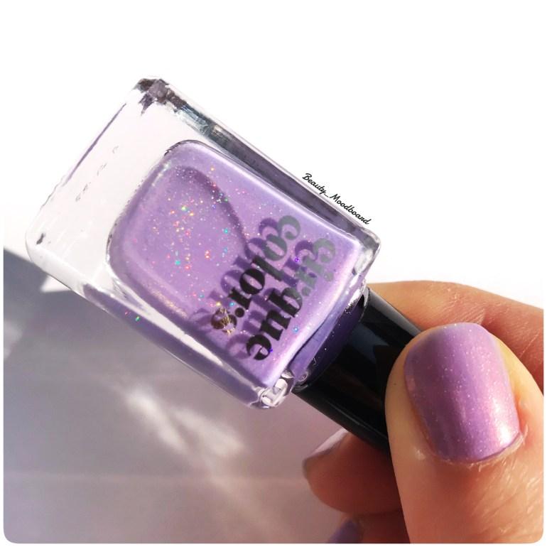 Cloud Nine Vernis violet lilas délicat micro shimmers