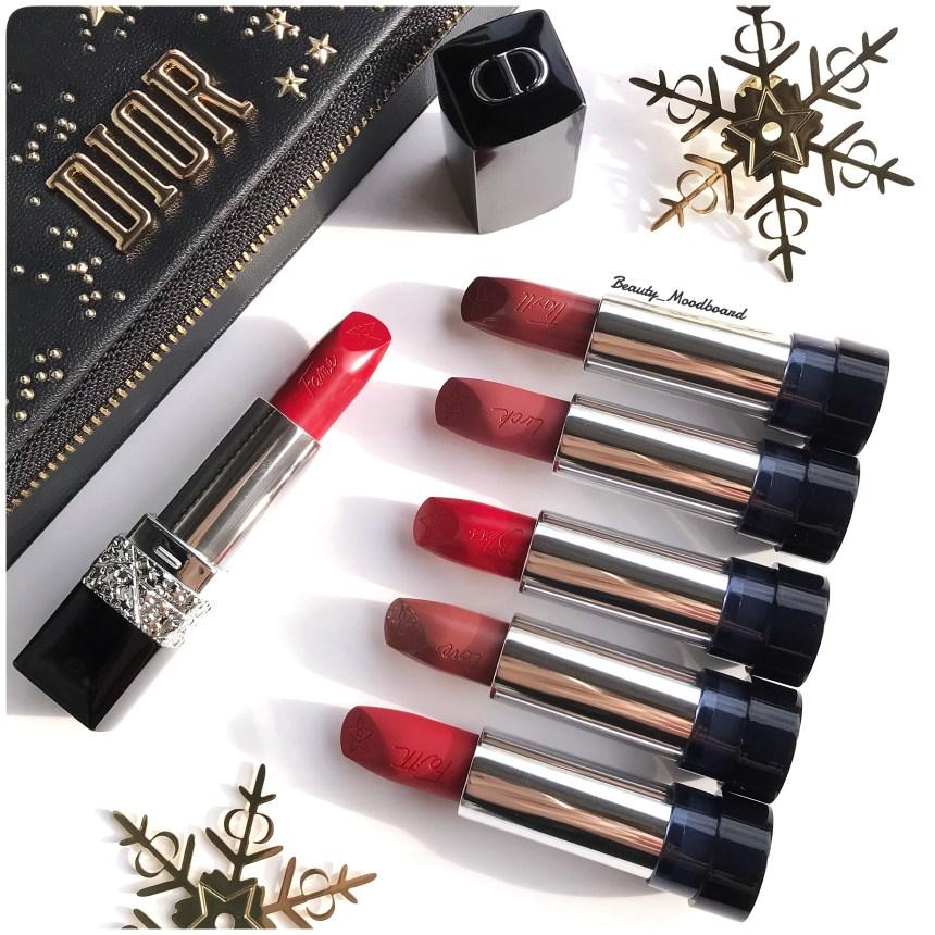Collection de rouges à lèvres Dior Couture Noël 2018