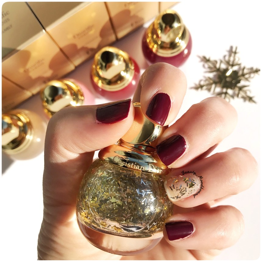 Swatch Diorific Top Coat Lucky Star 001 Dior Holiday Look 2018