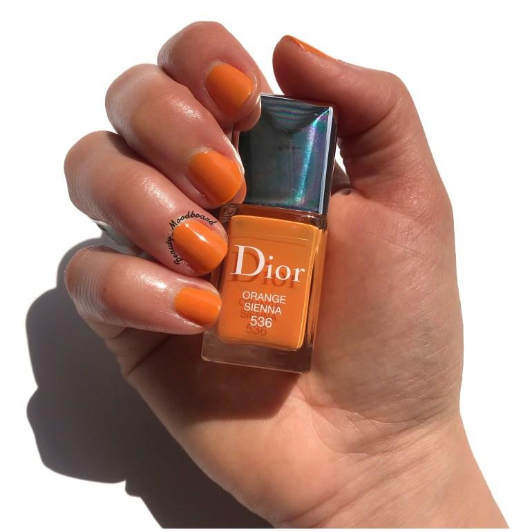 Swatch Dior Orange Sienna 536