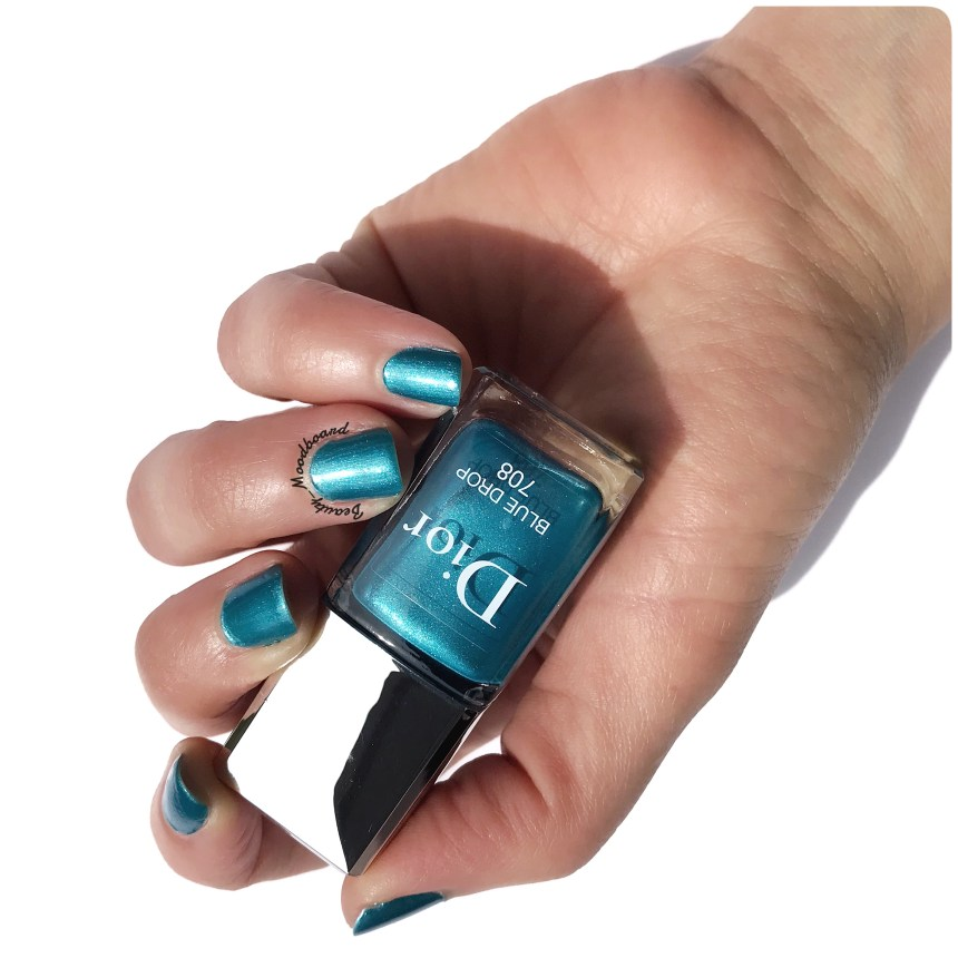 Swatch Vernis Dior été 2019 Couleur Bleu Turquoise