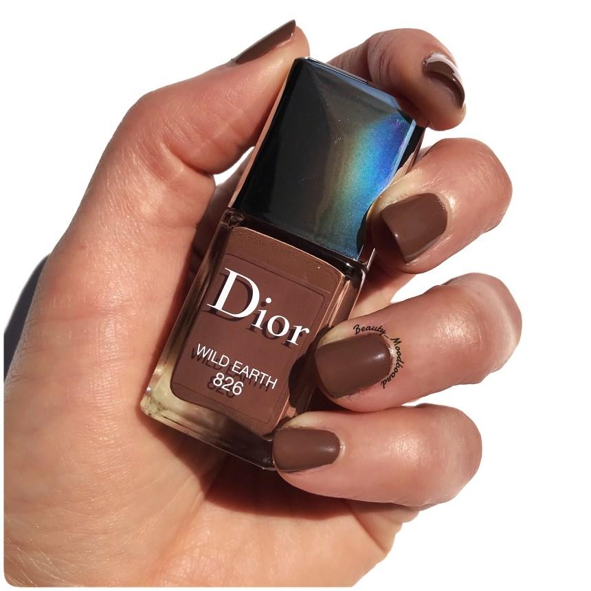 Swatch vernis Dior été 2019 couleur Brun Sauvage