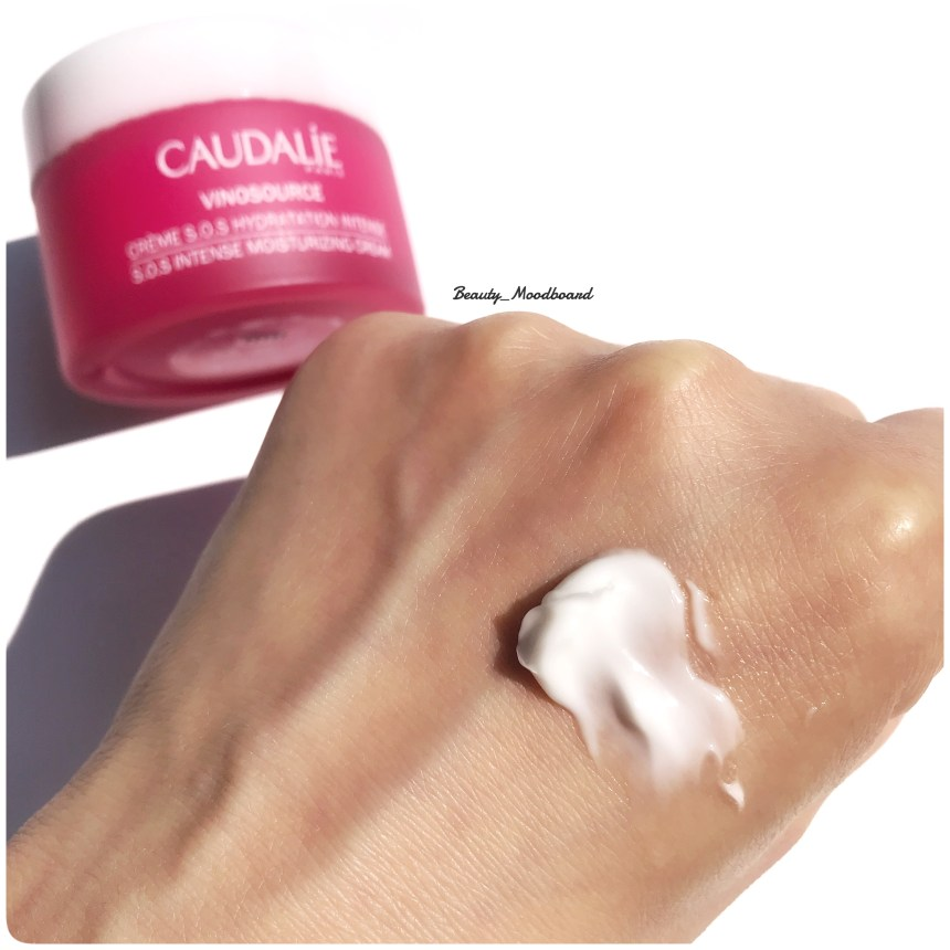 Swatch Crème S.O.S Hydratation Intense Caudalie Vinosource