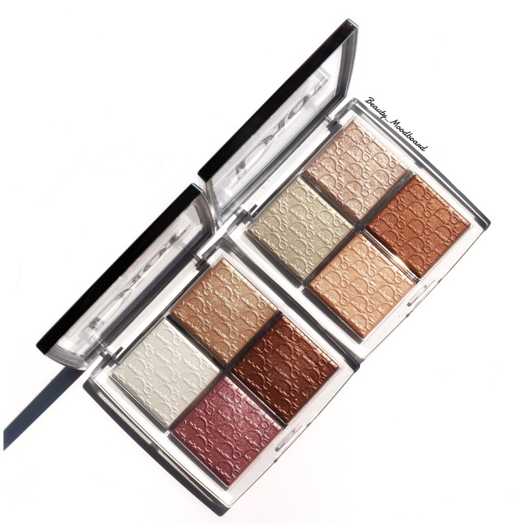 Dior Backstage Glow Face Palette Universal 001 and Glitz 002