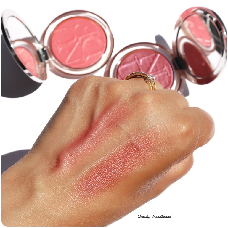 comparaison swatch couleur blush diorskin nude