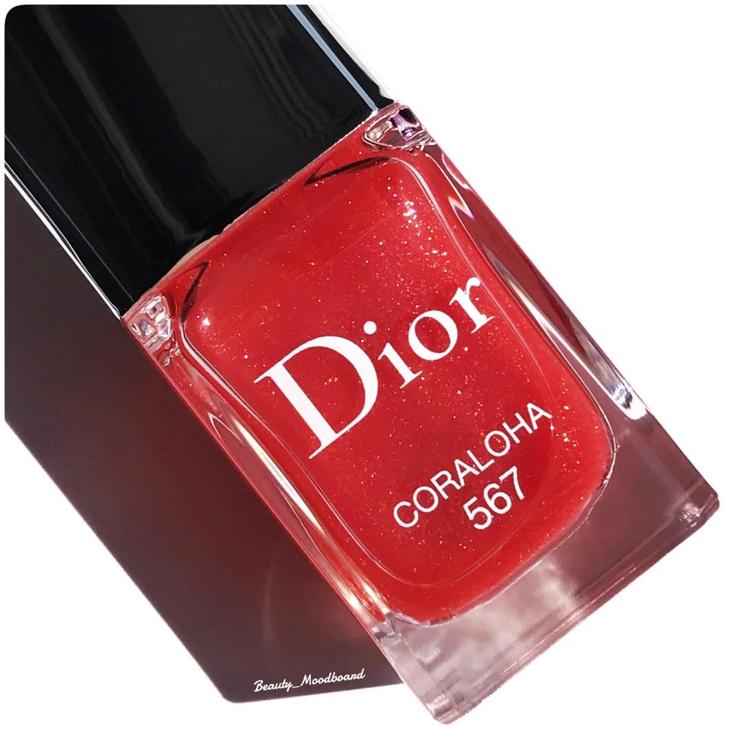 vernis 567 Dior couleur transparente corail