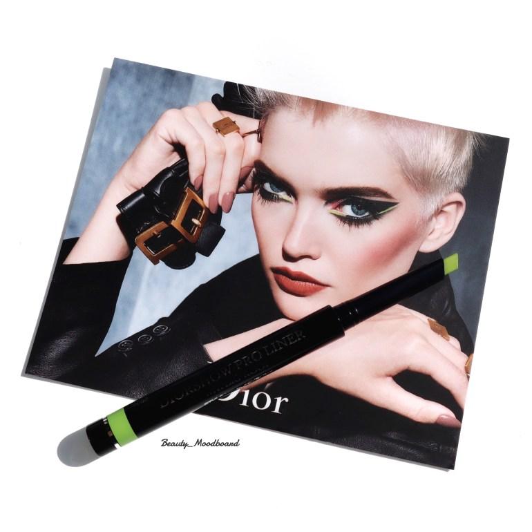 Dior Power Look Fall 2019 Eye liner Diorshow couleur vert citron