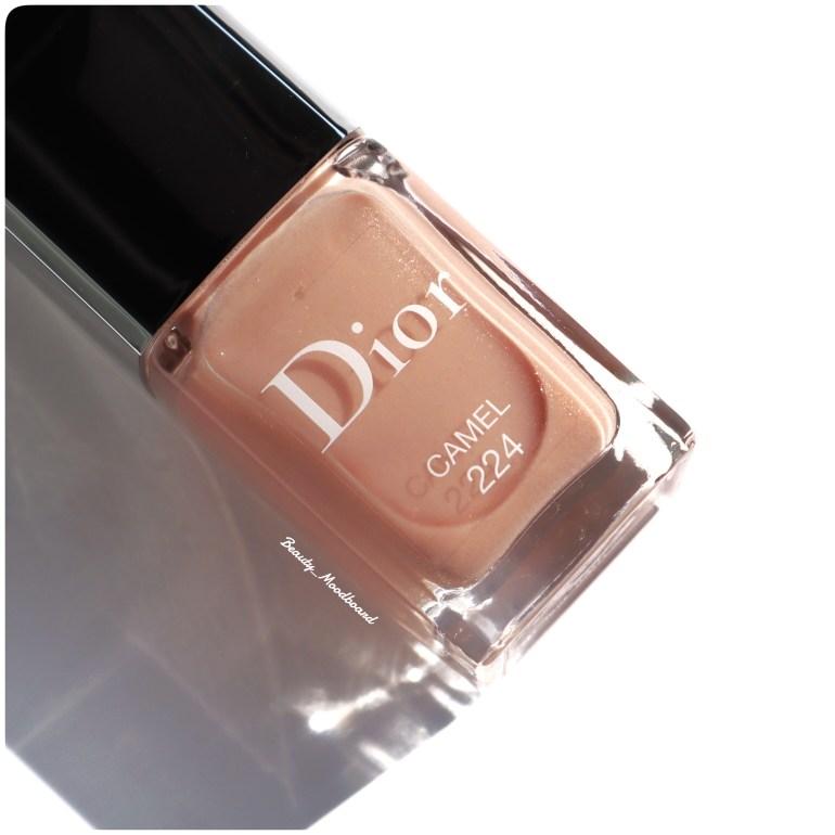 Vernis nude rosé irisé Dior Camel 224