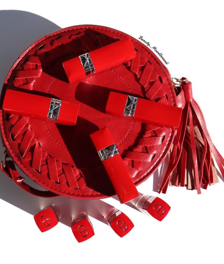 Sac rond et les nouveaux rouges-à-lèvres Rouge Dior Ultra Care