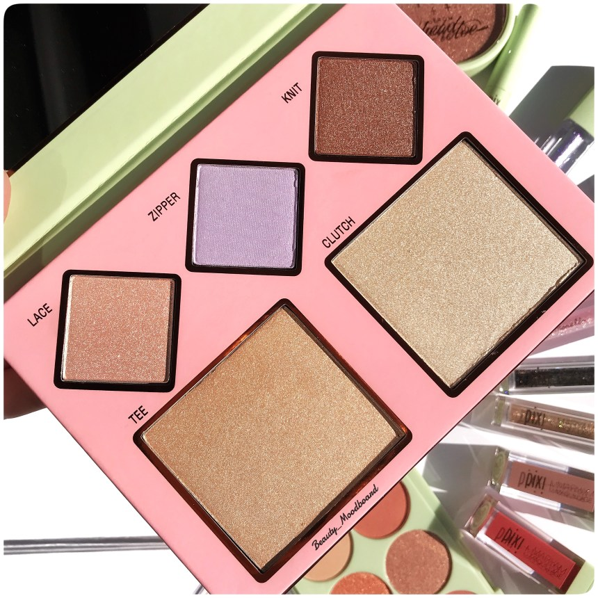 Palette highlighters Pixi cool collab Pixi x Rachhloves