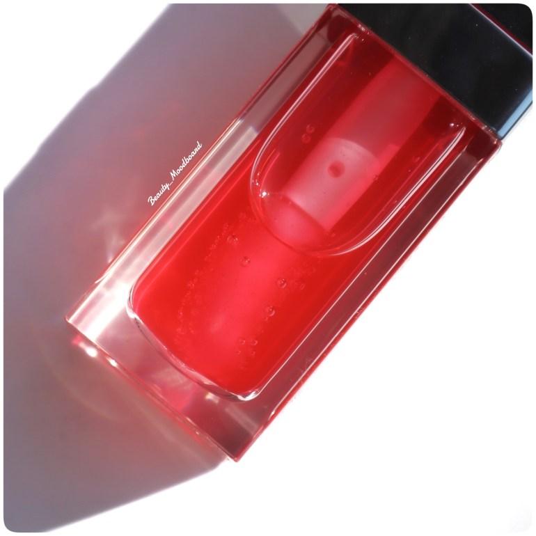Texture infusée d'huile de cerise brillant à lèvres hydratant
