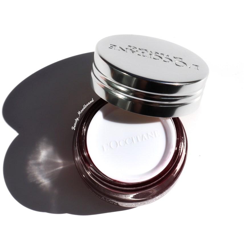Pot en verre et couvercle alu de la marque L'Occitane en Provence pour le Gommage Lèvres Délicieux